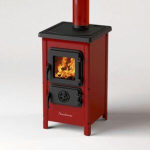 """Печка на дърва и въглища MBS Happy, червена - """"Би Джи Ар Груп"""" ООД 4107"""