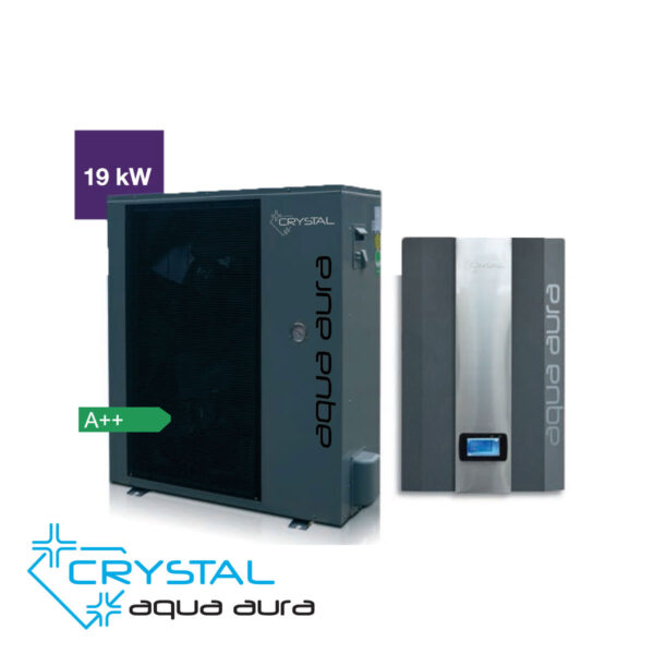 Инверторна термопомпа въздух-вода Crystal, Aqua Aura 19 kW - актуална цена, описание, онлайн поръчка. Купи Инверторна термопомпа въздух-вода Crystal, Aqua Aura 19 kW от вносител. 8693