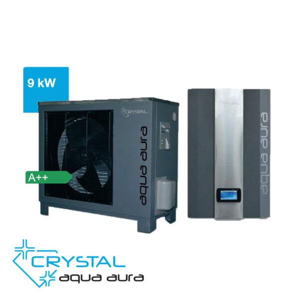 Най-добрите , Инверторна термопомпа въздух-вода Crystal, Aqua Aura 9 kW, 8668 - купи онлайн от - bgr.bg