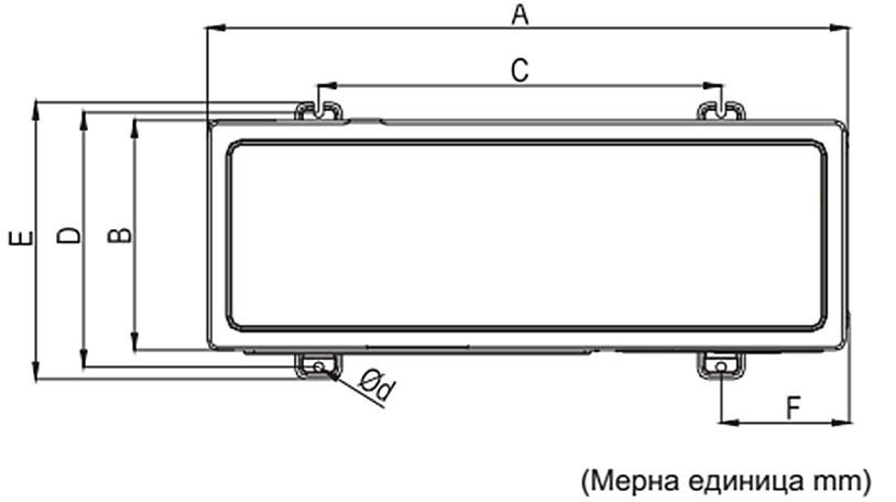 Размери на скобата за монтаж на климатик Crystal