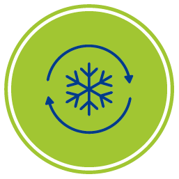 Конзолен климатик Crystal - автоматично разскрежаване